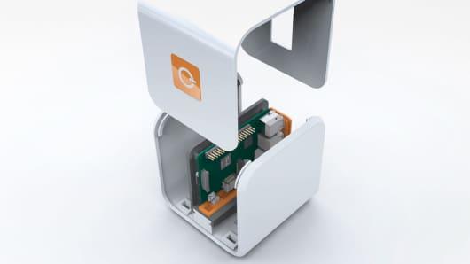 Inside view of the eBlocker device
