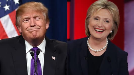 Bildresultat för trump vs clinton