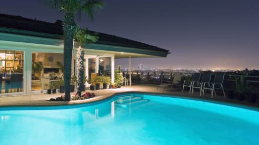 Luxury home and pool