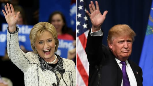 Hillary Clinton and Donald Trump campaign ahead of Super Tuesday.