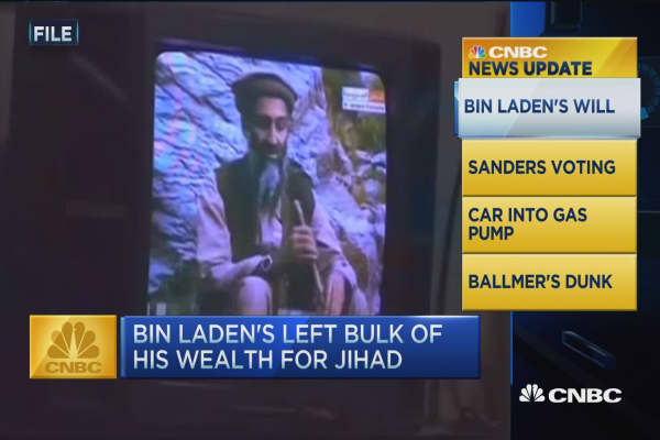 CNBC update: bin Laden wealth claimed at $29 million