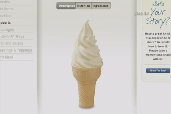 Chick-fil-A: Ditch your phone, get free ice cream