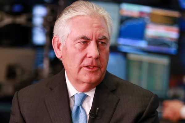 Rex Tillerson, CEO of Exxon Mobil.
