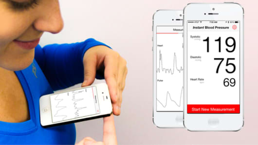 Instant Blood Pressure from AuraLife App
