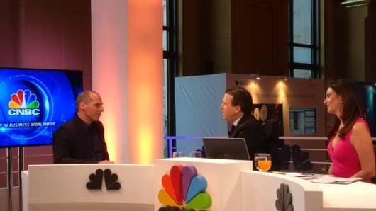 Yanis Varoufakis talks to CNBC in Abu Dhabi