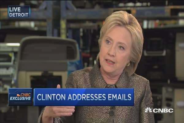 Hillary Clinton: Emails not anything to be worried about