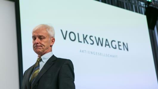 Matthias Mueller, chief executive officer of Volkswagen AG (VW)