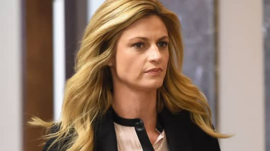 Erin Andrews enters the courtroom for closing remarks on March 4, 2016 in Nashville, Tennessee.