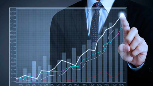 Up chart businessman