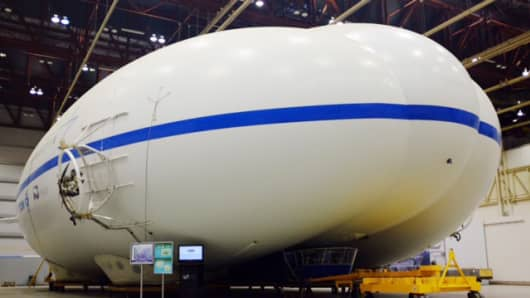 Lockheed Martin prototype exterior of its new airship.