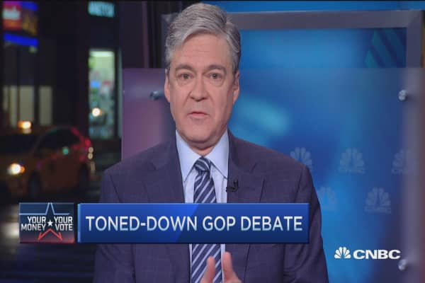Toned-down GOP debate