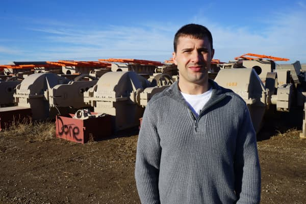 Andy Njos, along with his cousin, started Dacotah West Crane Services in 2011. The duo were among the first to cash in on the oil rush.