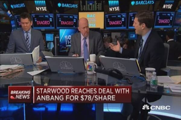 Cramer on Starwood: Hotels ARE undervalued because Airbnb