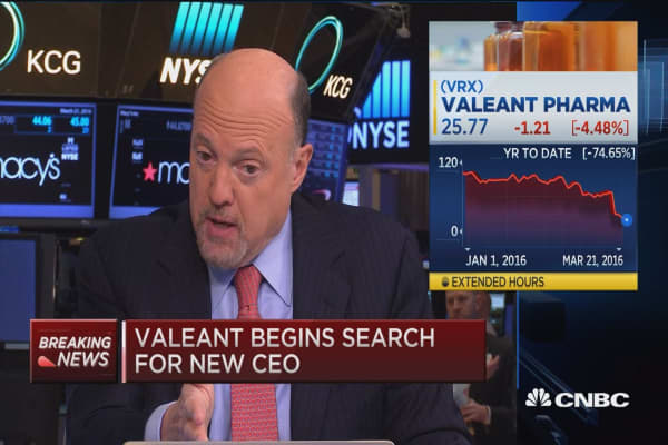 Cramer on VRX: It seems to be a clown show