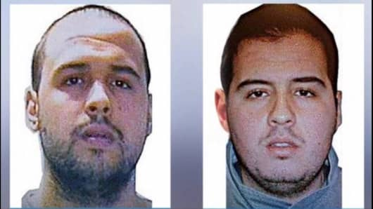 Khalid El Bakraoui, left, and Ibrahim El Bakraoui, right.