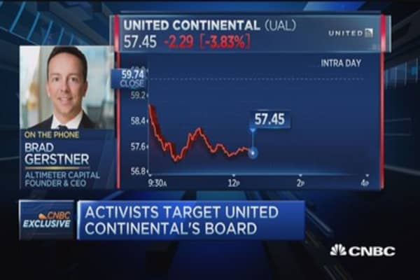 United Airlines activist on the record