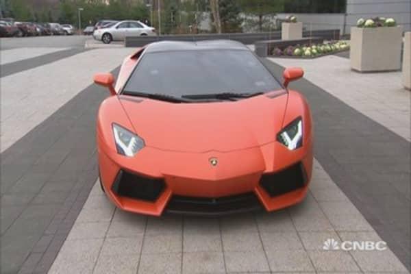 Tim's Lamborghini test drive