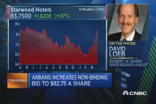 Anbang raises offer for Starwood