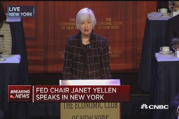Fed Chair Janet Yellen's remarks