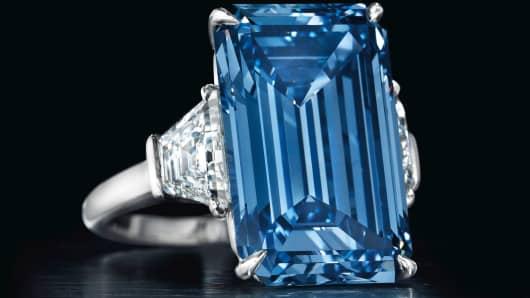 diamant fantaisie bleu vif,