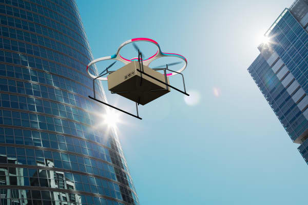 The commercial drone market is predicted to grow.