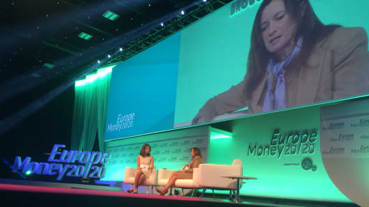 Blythe Masters, CEO of Digital Asset Holdings talks about blockchain technology at Money 2020 in Copenhagen