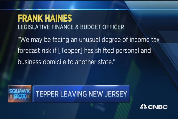 Tepper's taxes sends him packing