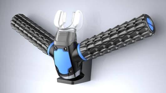 The Triton, an oxygen respirator using artificial gills.