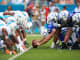 Colts v Miami NFL football hike the ball