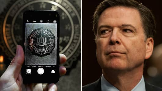 Image result for james comey on phone
