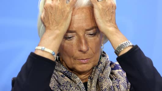Managing Director of the International Monetary Fund (IMF) Christine Lagarde.