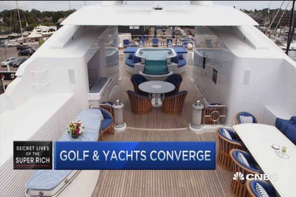 Golf clubs to match your yacht