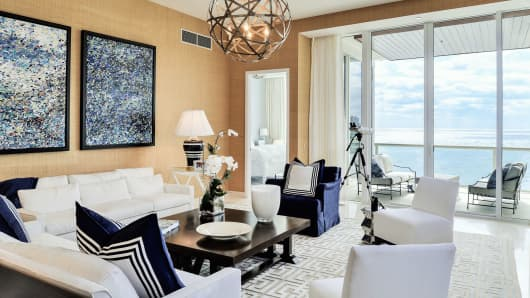 The Signature Penthouse at One Thousand Ocean in Boca Raton, Florida.