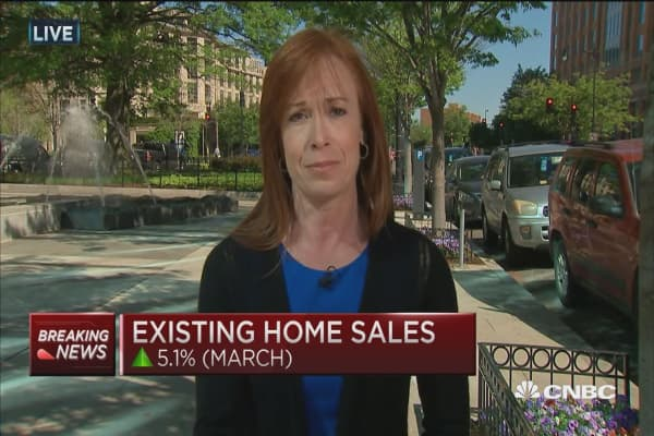 Existing home sales up in March