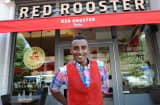 Celebrity chef Marcus Samuelsson at his Harlem restaurant Red Rooster.