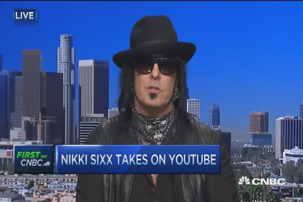 Nikki Sixx takes on YouTube