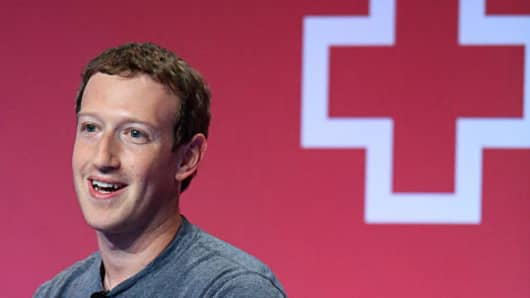 Mark Zuckerberg, chief executive officer of Facebook Inc.,