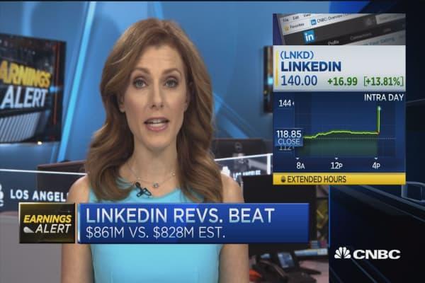 LinkedIn earnings beats expectations