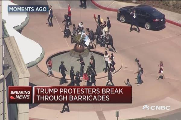Trump protesters rally in California