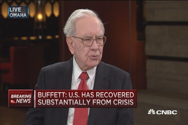Buffett on jobs picutre, GDP and oil