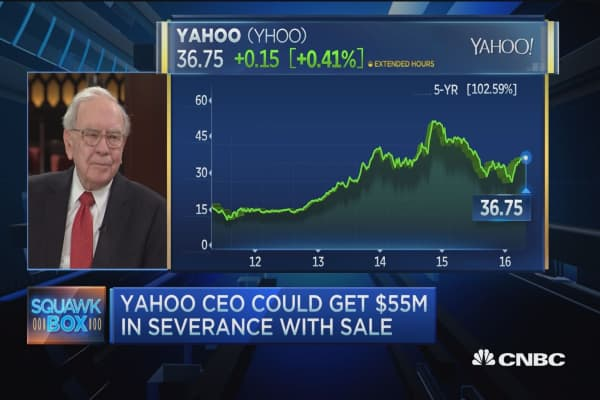 Buffett on Big Blue, Yahoo and trade