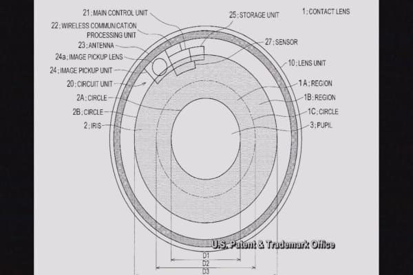 Sony applies for patent on contact lens camera that shoots