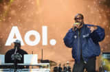Snoop Dog performs onstage at the AOL NewFront 2016 at Seaport District NYC on May 3, 2016 in New York City.