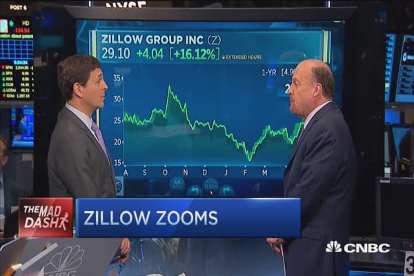 Jim cramer on zillow call me spencer rascoff for Call zillow
