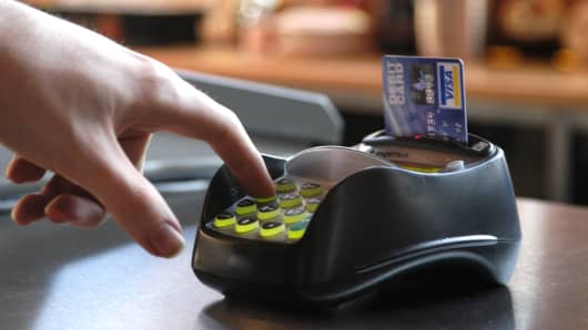 Chip card payment method