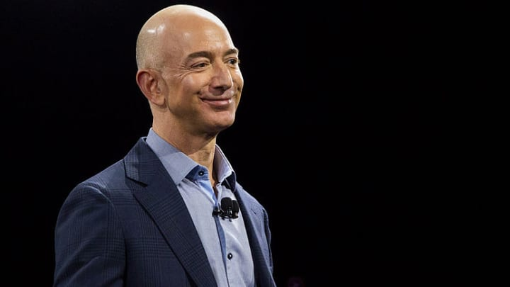 Jeff Bezos, chief executive officer of Amazon.com Inc.