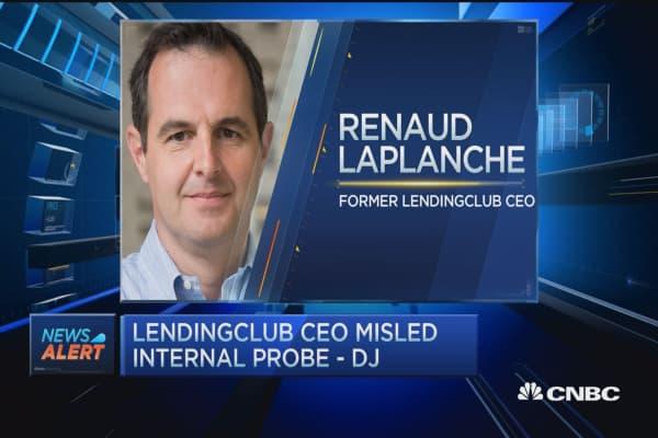 LendingClub CEO misled internal probe - DJ