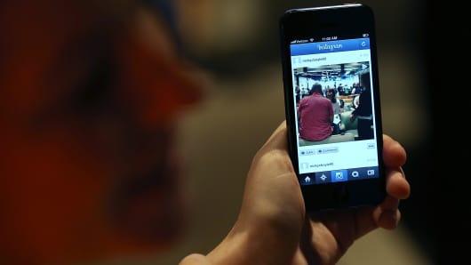 Instagram feed, on smartphone