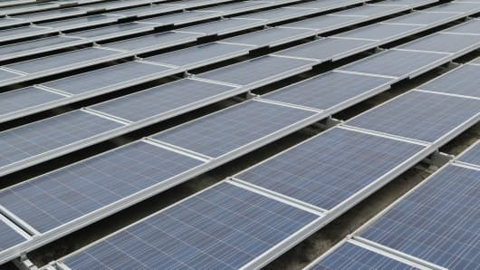 This solar array is the size of 11 football fields and is in the heart of a residential neighborhood in San Francisco.