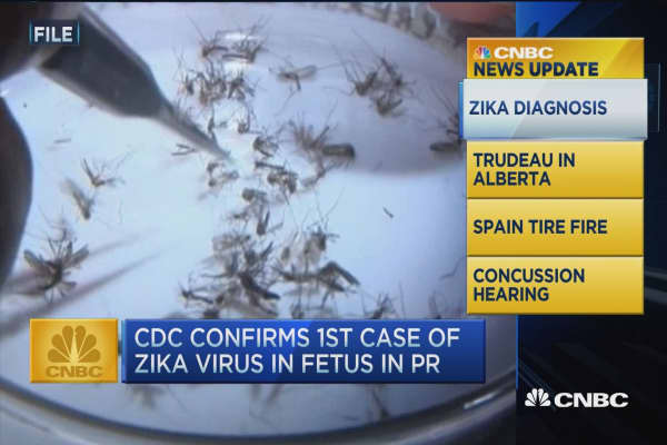 CNBC update: Fetal Zika confirmed in Puerto Rico